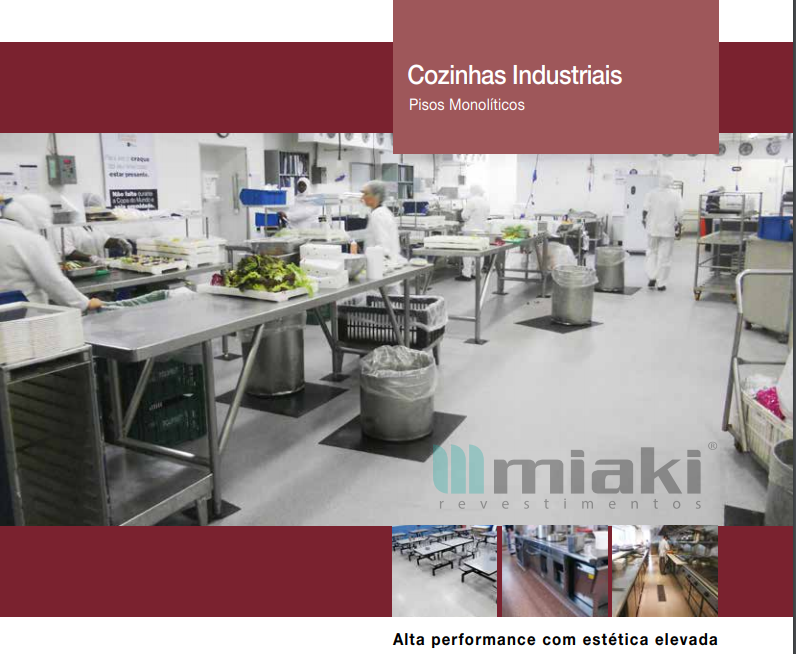 Cozinhas Industriais –  Pisos Monolíticos