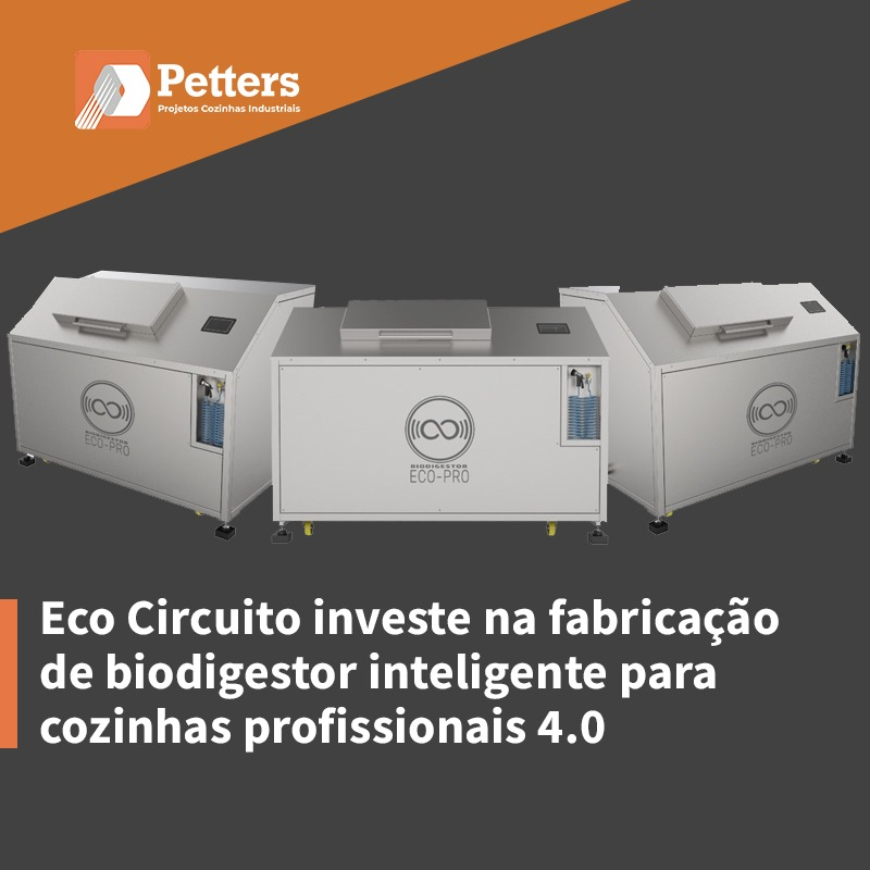 Eco Circuito investe na fabricação de biodigestor inteligente para cozinhas profissionais 4.0